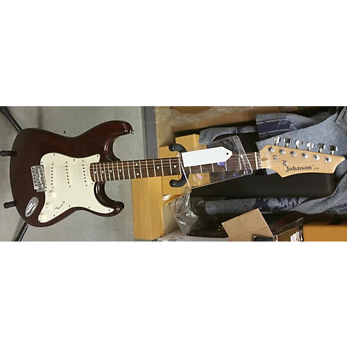 In Store Used Used Johnson By Axl Strat Style Wine Red Solid Body Electric Guitar