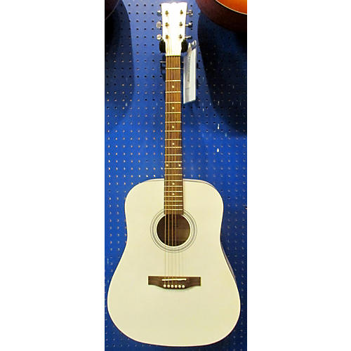 In Store Used Used KASHMIR 6090E4-WHT White Acoustic Guitar-thumbnail