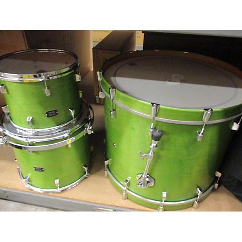 In Store Used Used KELLER 2005 3 piece CUSTOM SHELL Green Drum Kit