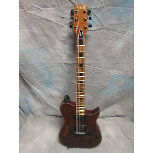 In Store Used Used KIESEL AE185 DEEP TIGERS EYE FLAME Solid Body Electric Guitar-thumbnail