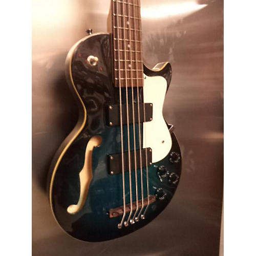 In Store Used Used KTONE Semi-Hollow Blue Electric Bass Guitar