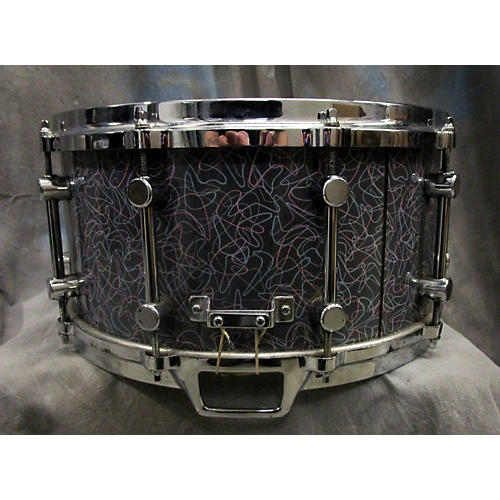 In Store Used Used Kansas City Drum Works 1987 6.5X14 Custom Grey Boomerang Drum-thumbnail