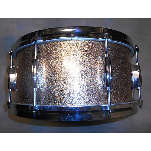 In Store Used Used Keller Shell 6.5X14 Montineri Mod W/ Gretsch Hardware Champagne Sparkle Drum-thumbnail