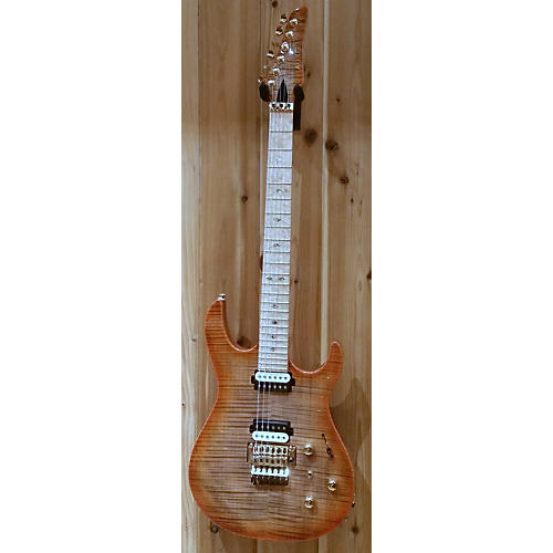In Store Used Used Kiesel 2015 DC600 FR Custom Shop Deep Orange Flame Solid Body Electric Guitar