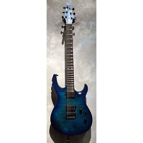 In Store Used Used Kiesel K6 Prototype Aqua-Burst Solid Body Electric Guitar