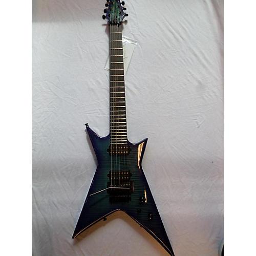 In Store Used Used Kiesel X227 Custom Shop Blue Burst Solid Body Electric Guitar