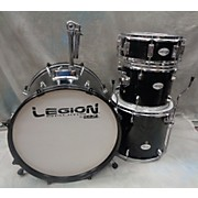 Used LEGION 4 piece LEGION DRUM SET Black Drum Kit