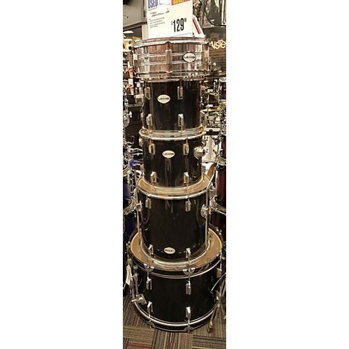 In Store Used Used LEGION 5 piece 5PC DRUM SET W/HDWE & CYM Black Drum Kit-thumbnail