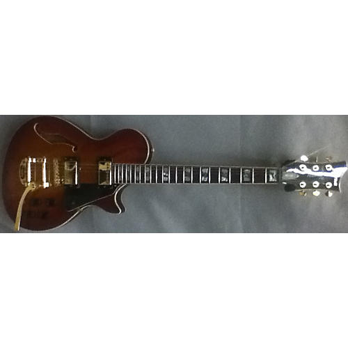In Store Used Used LTD/XTONE PC1V Heritage Cherry Sunburst Hollow Body Electric Guitar-thumbnail