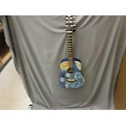 Used LUNA SAFSTR Blue Acoustic Guitar