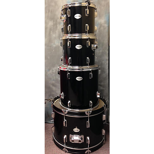 In Store Used Used Legion 4 piece 4 Piece Black Drum Kit-thumbnail