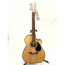 Used Leho LHG-OMV14R-E Natural Acoustic Electric Guitar