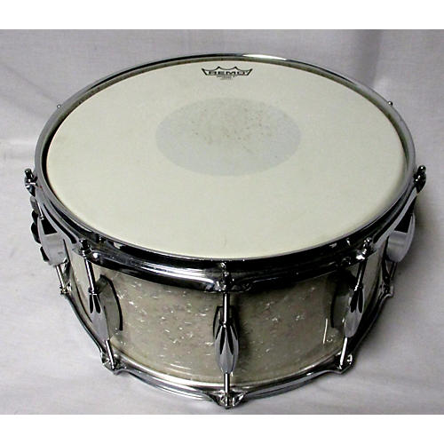 used love custom drums 7 5x14 custom snare drum pearl white pearl white 132 guitar center. Black Bedroom Furniture Sets. Home Design Ideas