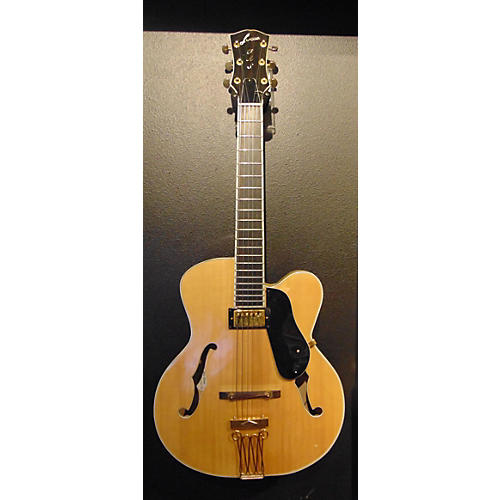In Store Used Used Lucca LS1 Natural Hollow Body Electric Guitar-thumbnail