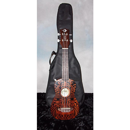 In Store Used Used Luna TRIBAL SOPRANO Natural Ukulele-thumbnail
