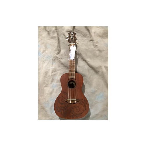 In Store Used Used Luna Tattoo Natural Ukulele-thumbnail
