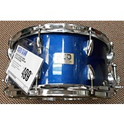 Used MASTER CRAFT DRUMS 2010 7X13 CUSTOM CHAMELEON ELECTRON BLUE Drum