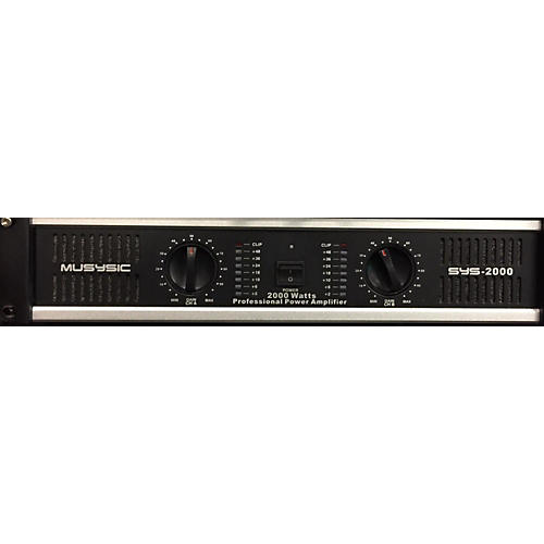In Store Used Used MUSYSIC SYS 2000 Power Amp-thumbnail
