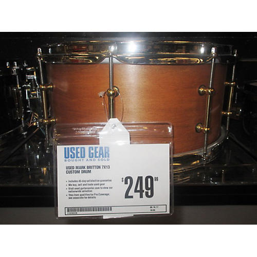 In Store Used Used Mark Britton 7X13 Custom Drum Mahogany