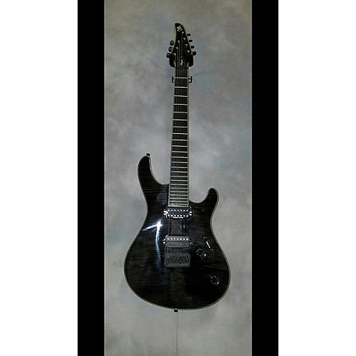 In Store Used Used Mayones Regius Trans Black Gloss Flame Maple Solid Body Electric Guitar