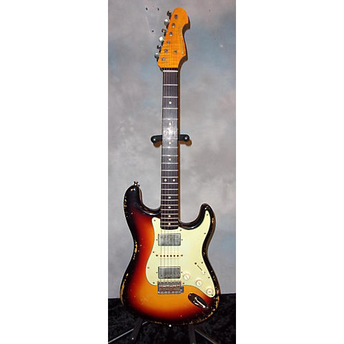 In Store Used Used McLoughlin HSH S Style Relic Sunburst Solid Body Electric Guitar