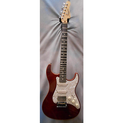 In Store Used Used Melancon Vintage Artist Red Solid Body Electric Guitar-thumbnail