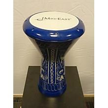 Used Mid East Aluminum Doumbek Blue Hand Drum