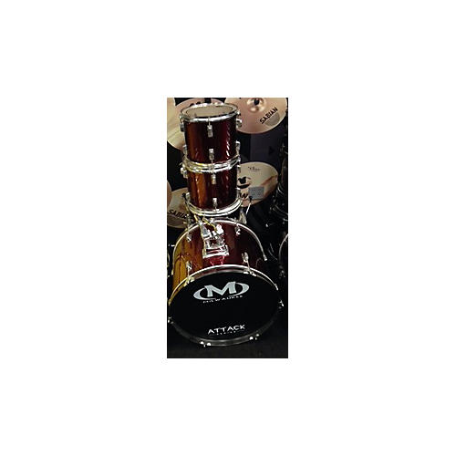 In Store Used Used Milwaukee 5 piece Attack Series Metallic Red Drum Kit