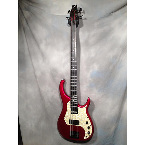 In Store Used Used Modulus M 92 Chrome Red Metallic Electric Bass Guitar Chrome Red Metallic