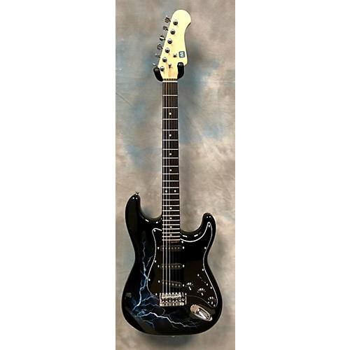 In Store Used Used Monoprice Pro Audio Series Black Solid Body Electric Guitar