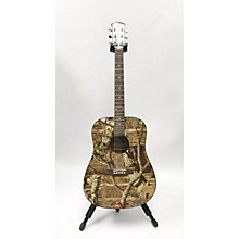 Used Mossy Oak Breakup Woodland Camo Acoustic Guitar