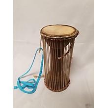 Used Natural Hide Talking Drum Hand Drum