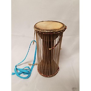 Pre-owned Pre-owned Natural Hide Talking Drum Hand Drum by