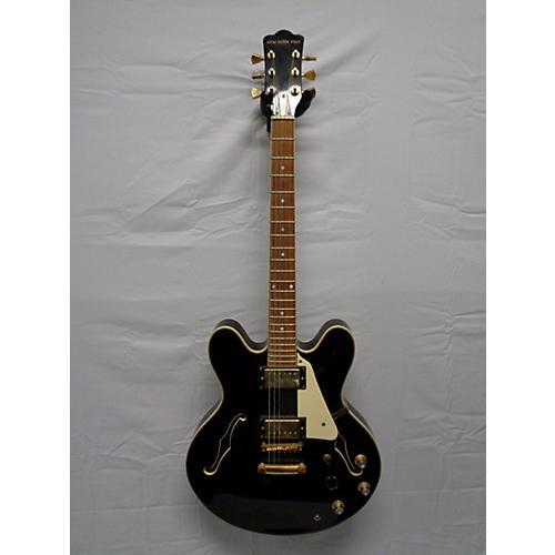 used new york pro semi hollow black hollow body electric guitar black guitar center. Black Bedroom Furniture Sets. Home Design Ideas