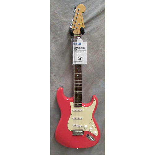 In Store Used Used New York Pro Strat Pink Solid Body Electric Guitar-thumbnail