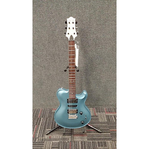 In Store Used Used Nik Huber Dolphin Prototype Frost Blue Solid Body Electric Guitar