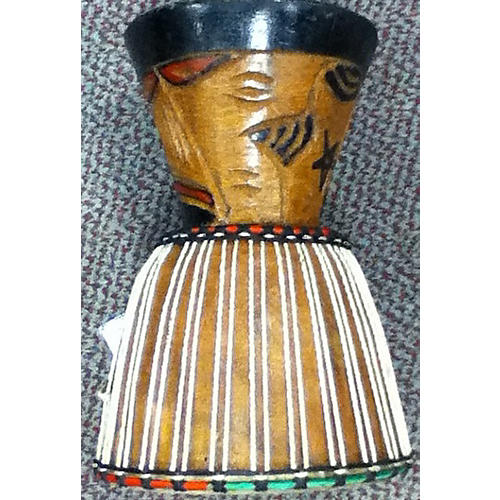 In Store Used Used OVERSEAS 9in HANDCARVED Djembe