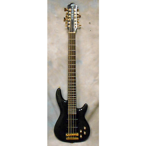 In Store Used Used October 12 String Bass Trans Black Electric Bass Guitar