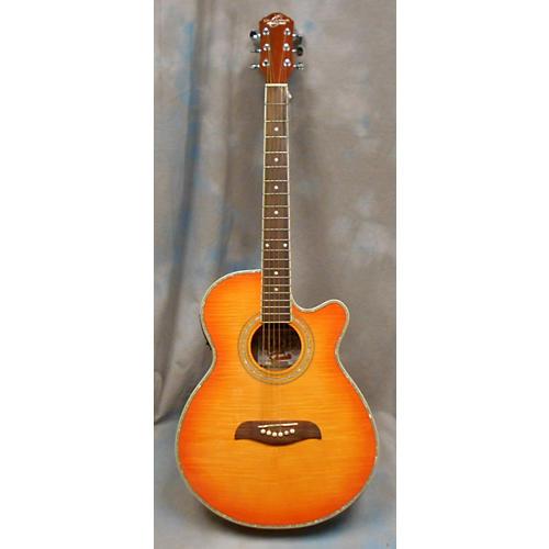 In Store Used Used Oscar Shmidt OG10CEF Cherry Sunburst Acoustic Electric Guitar-thumbnail