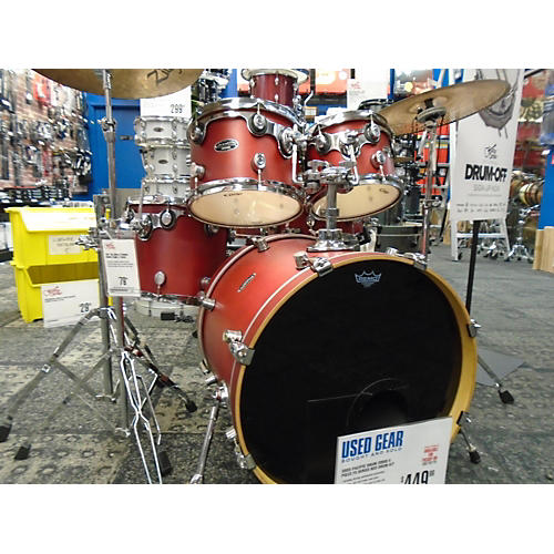 In Store Used Used PACIFIC DRUM 2000s 5 piece FS SERIES Red Drum Kit-thumbnail