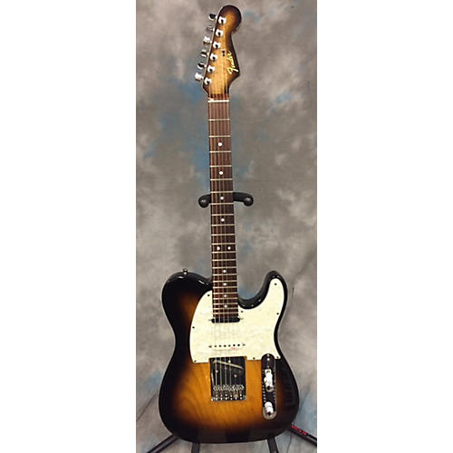 In Store Used Used PARTS GUITAR 2014 TELE 2 Tone Sunburst Solid Body Electric Guitar-thumbnail