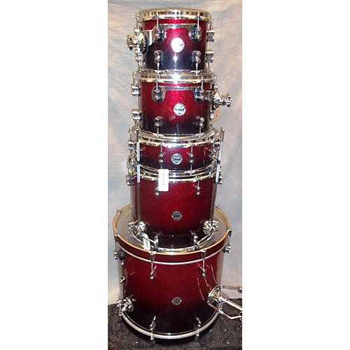In Store Used Used PDP 5 piece Concept Series Red To Black Fade Drum Kit-thumbnail
