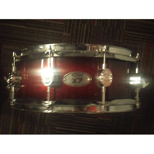In Store Used Used PDP 5X14 X7 Red Sparkle Drum