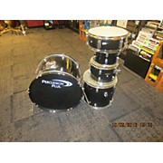 Used PERCUSSION PLUS 5 piece 5 PIECE Black Drum Kit