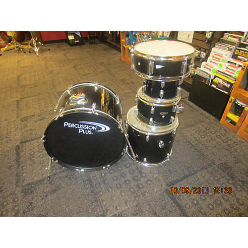 In Store Used Used PERCUSSION PLUS 5 piece 5 PIECE Black Drum Kit-thumbnail