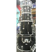 Used PERCUSSION PLUS 5 piece STARTER Black Drum Kit