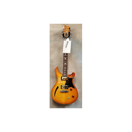 In Store Used Used PRS SE CUSTOM 22 SEMI HOLLOW Vintage Natural Hollow Body Electric Guitar