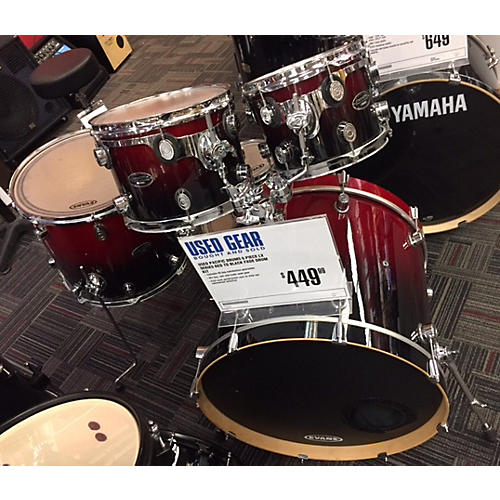 In Store Used Used Pacific Drums 6 piece LX Series Red To Black Fade Drum Kit-thumbnail