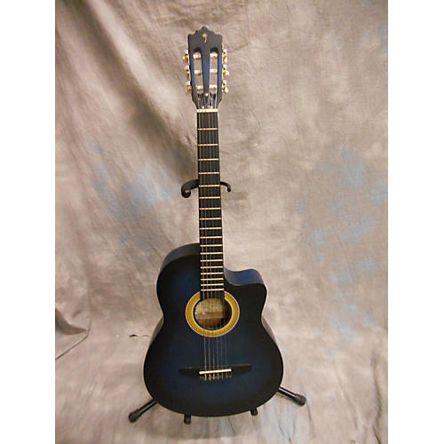 In Store Used Used Palmer Camen Blue To Black Fade Acoustic Guitar