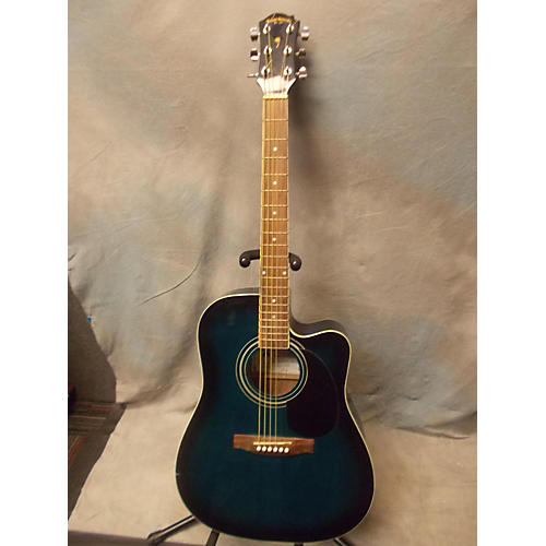 In Store Used Used Palmer PD21ECBLS Blue Sunburst Acoustic Electric Guitar